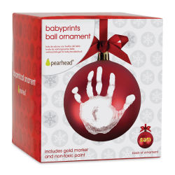Pearhead Babyprints Ball Ornament