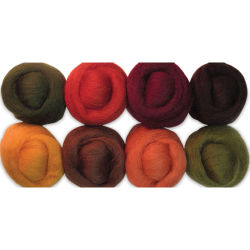 Wistyria Editions 100% Wool Roving - Timberland, Pkg of 8