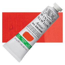 Winsor & Newton Artists' Oil Color - Cadmium Free Scarlet, 37 ml, Tube with Swatch