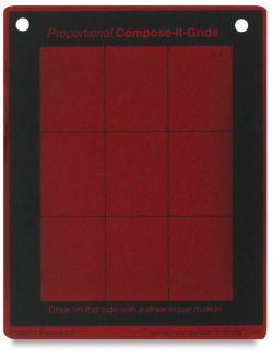 Compose It Grid - 4'' x 5'', Red, Value Finder, 3:4