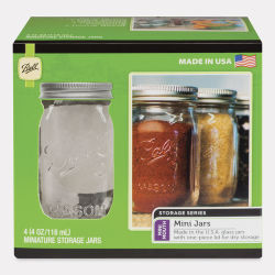 PA Ball Jars - Mini Jars, 4 oz, Pkg of 4