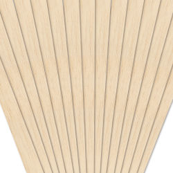 Midwest Products Balsa Wood Strips - 15 Pieces, 1/8'' x 1/2'' x 36''