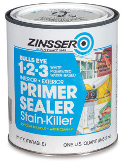 Bulls Eye 1-2-3 Latex Primer Sealer- Interior/Exterior, Quart