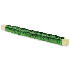Craft Decor Floral Paddle Wire - Green, 28 Gauge, 98 ft