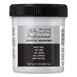 Winsor & Newton Artists' Acrylic Matt Gel Medium - Matte, 237 ml jar