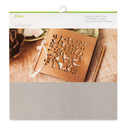 "Cricut Genuine Leather - Metallic Silver, 12"" x 12"""