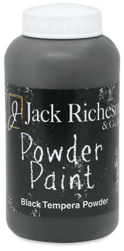 Richeson Powder Tempera Paint - Black, 1 lb Jar