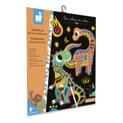 Janod Dinosaur Cut-Outs Scratch Art Kit (packaging)