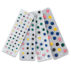 Creativity Street Peel and Stick Wiggle Eyes - Multicolor and Sizes, Pkg of 137