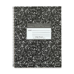 Roaring Spring Composition Notebook - Lined, Black Cover, Wirebound