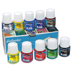 Pebeo Setacolor Fabric Paint - Opaque, Set of 10