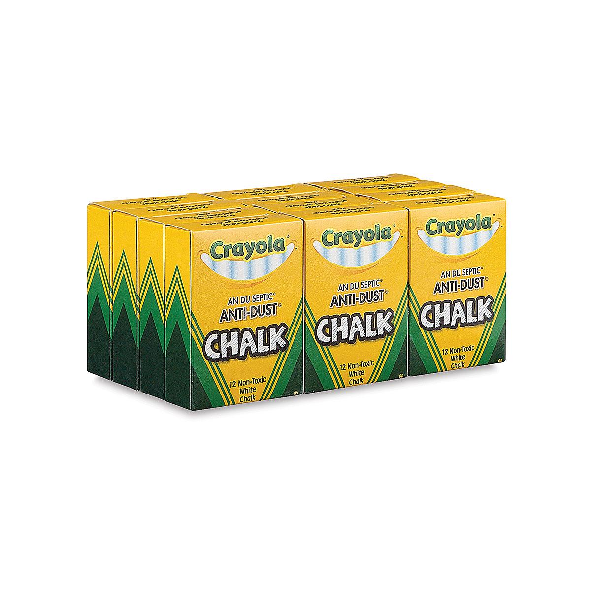 Crayola Anti-Dust Chalk-White 12//Pkg