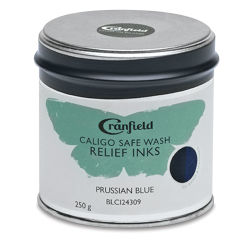 Caligo Safe Wash Relief Ink - Prussian Blue, 250 g