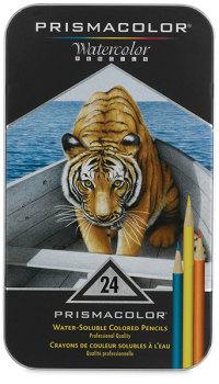 Prismacolor Watercolor Pencil Set - Assorted Colors, Set of 24