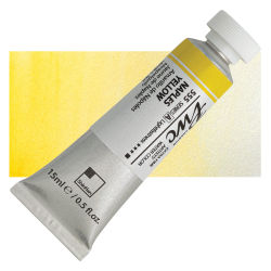 PWC Extra Fine Professional Watercolor - Naples Yellow, 15 ml, Swatch with Tube