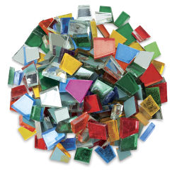 Crafter's Cut Pre-Cut Mirror Tiles - Assorted, 16 oz