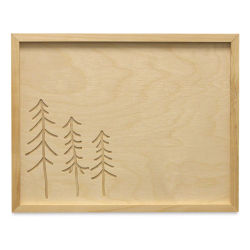 Walnut Hollow Framed Sign with Design - Trees