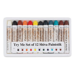 Richeson Shiva Paintstik Oils - Try Me Set of 12 (Set contents may vary.)