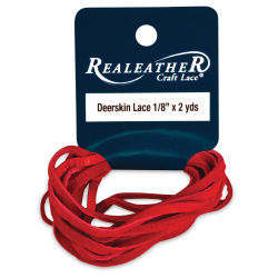 Deerskin Lace - 1/18'' x 6 ft, Red