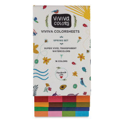 Viviva Colorsheets - Spring Colors, Set of 16 (Front)
