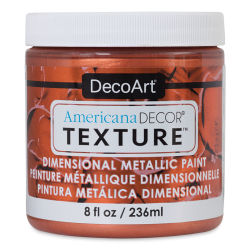 DecoArt American Decor Texture Paint - Copper Metallic, 8 oz