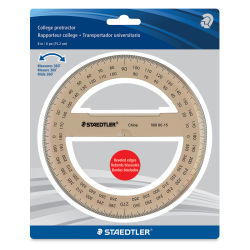 Staedtler College Protractor - 6'', Tinted, 360 Degree