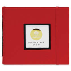 Kinsho Pocket Albums - 4'' x 4'', Red