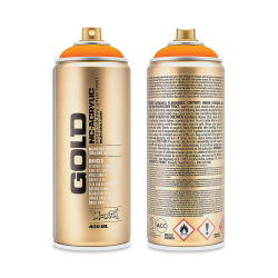 Montana Gold Acrylic Professional Spray Paint - Power Orange, 400 ml can