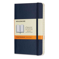 "Moleskine Classic Soft Cover Notebook - Sapphire Blue, Ruled, 5-1/2"" x 3-1/2"""