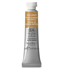 Winsor & Newton Professional Watercolor - Raw Umber, 5 ml Tube