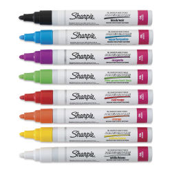 Sharpie Oil-Based Paint Marker - Assorted Colors, Medium Point, Set of 8