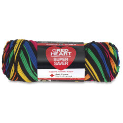 Red Heart Super Saver Yarn - Primary Stripes, 5 oz