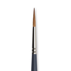 Winsor & Newton Professional Watercolor Synthetic Brush - Pointed Round, Size 6, Short Handle (close-up)