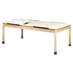 Diversified Woodcrafts Four Station Drawing Table