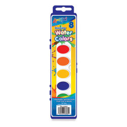Liqui-Mark Washable Watercolor Sets - Set of 8 With Brush, Assorted Colors, Oval