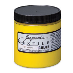 Jacquard Textile Color - Yellow, 8 oz jar