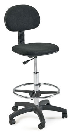 Martin Universal Design Stiletto Drafting Chair - Black, With Footring