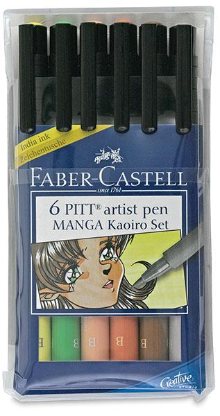Faber-Castell PITT Artist Pen 6er Etui brush Kaoiro Set
