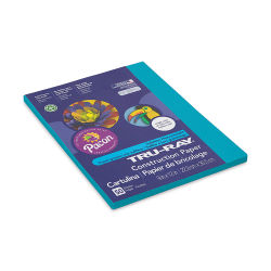 Pacon Tru-Ray Construction Paper - 9'' x 12'', Atomic Blue, 50 Sheets