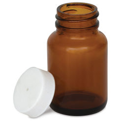 Double E Distributing Small Glass Jars for Mixing  - Amber, 2 oz