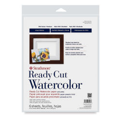 Strathmore Ready Cut Watercolor Sheets - 11'' x 14'', Cold Press, 6 Sheets
