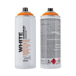 Montana White Spray Paint - Campari Orange, 400 ml can