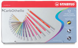 Stabilo CarbOthello Pastel Pencils, Set of 12. In package