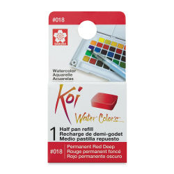 Sakura Koi Watercolor Half Pan - Permanent Red Deep