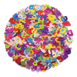 Craft Medley - Sequins, Letters and Numbers, 1.8 oz