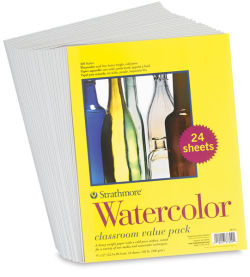 Cold Press Watercolor Paper, Class Pack of 24