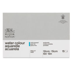 Winsor & Newton Classic Watercolor Pad - 4'' x 6'', Post card size, Gluebound