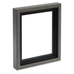 Blick Pietra Wood Floater Frame - 8'' x 10'' x 7/8'', Black/Gold