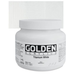Golden Heavy Body Artist Acrylics - Titanium White, 16 oz Jar