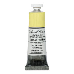 Michael Harding Artists Oil Color - Lemon Yellow, 40 ml tube